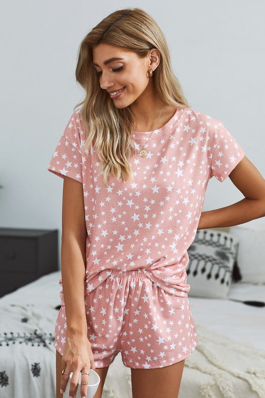 Star Jammies in Pink