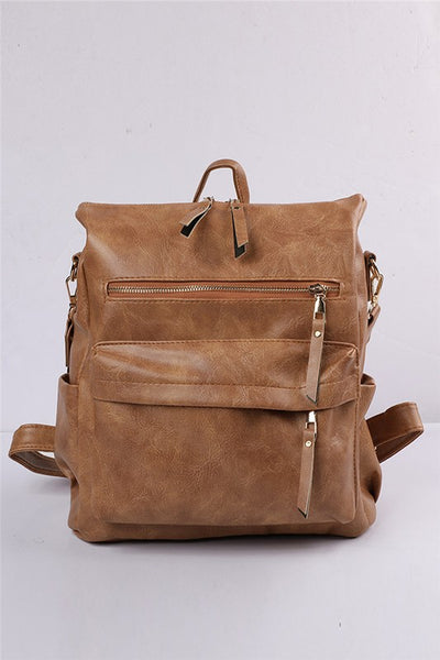 Versatile backpack in brown