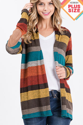 PLUS rust striped cardigan