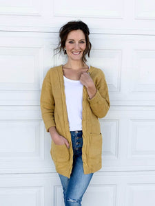 Kayla Braid Cardigan in Honey