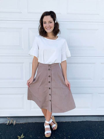 Jenny Swing Skirt in Mocha