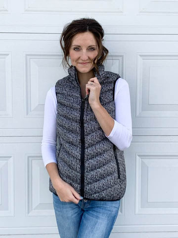 Battery Heated Herringbone Vest