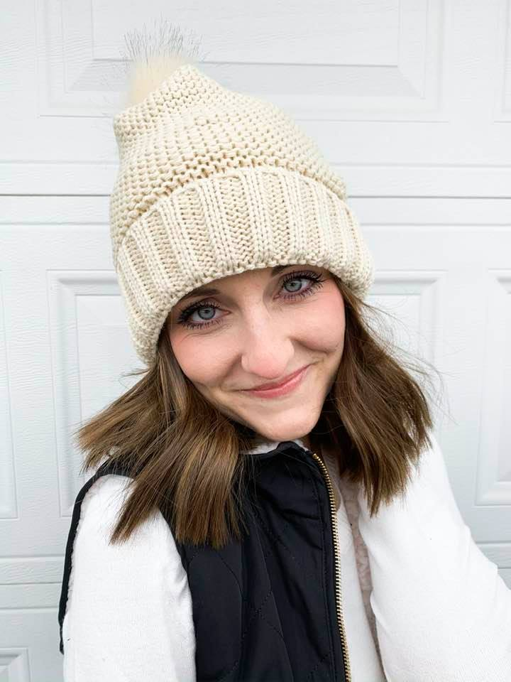 Into the Snow Beanie in Ivory