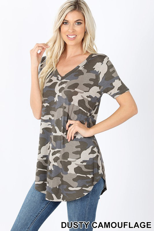 Dusty Camo V-neck