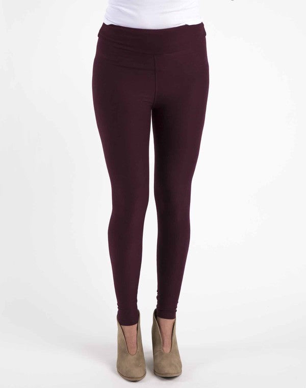 Buttery Soft burgundy leggings