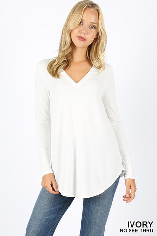 PLUS favorite long sleee v-necks