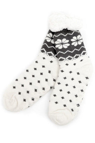 Women's slipper socks- snowflake