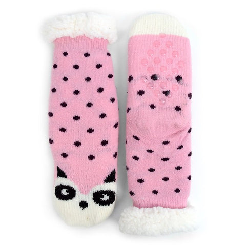Girls slipper socks- pink panda