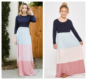 Mommy n me color block maxi