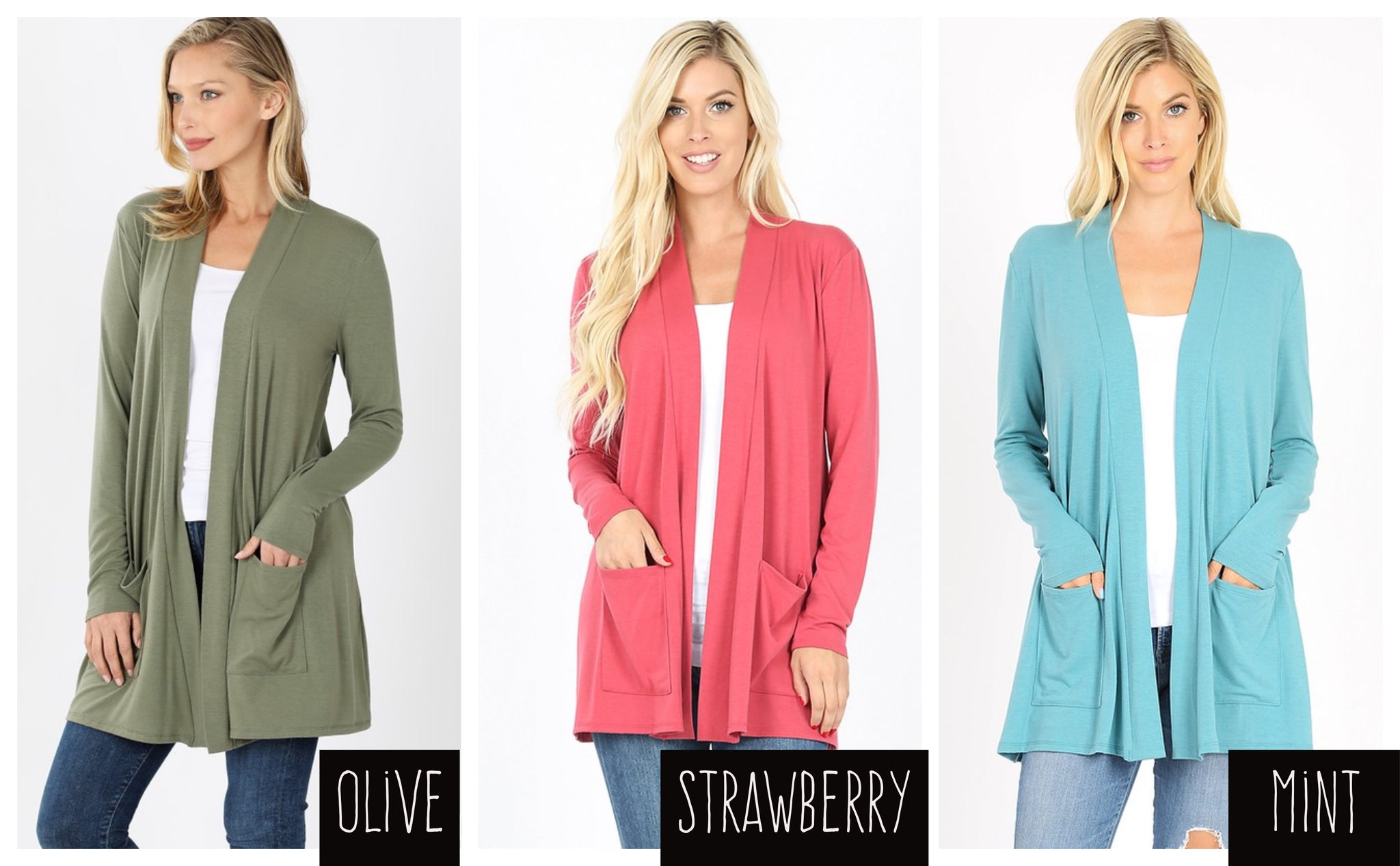 Spring cardigans- 3 colors