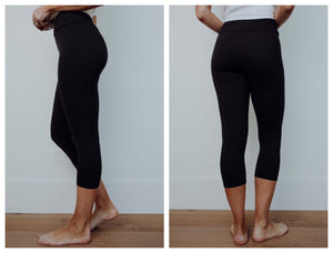 BUTTERY SOFT BLACK LEGGINGS- CAPRI