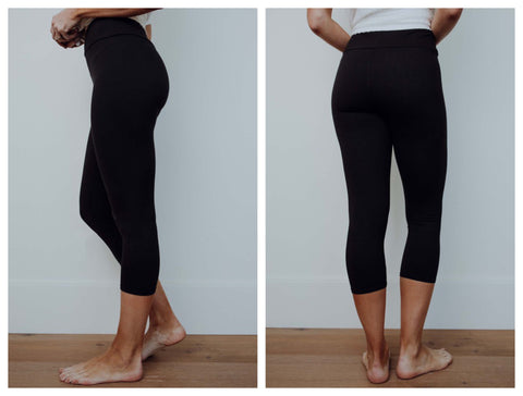 Buttery soft black leggings-capri