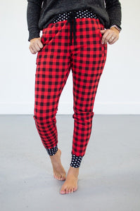 Buffalo Plaid Polka Loungers