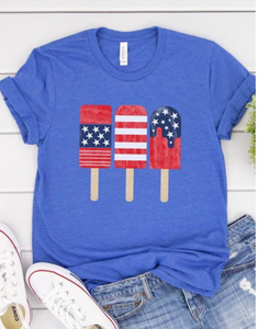 Patriotic popsicle tee in Royal