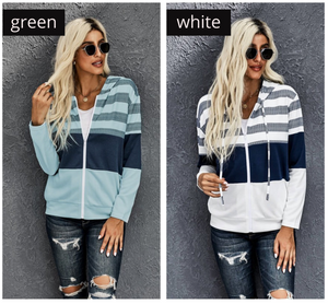Mari colorblock zip ups- 3 colors
