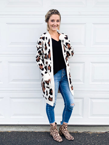 All Things Leapord Cardigan