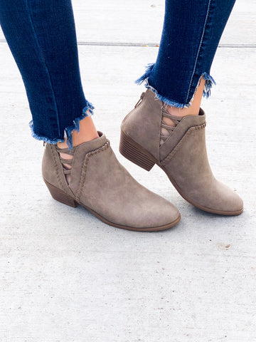 Ronda booties in Taupe