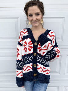 Ashlin Cardigan in Navy