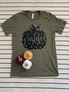Grateful Graphic tee in Olive