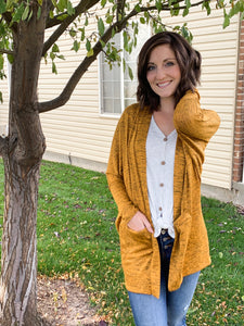 PS I love you cardigan in mustard