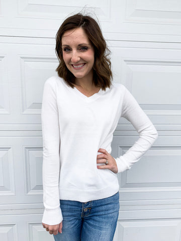 Timeless sweater in white