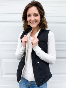 Roxy REVERSIBLE vest in black