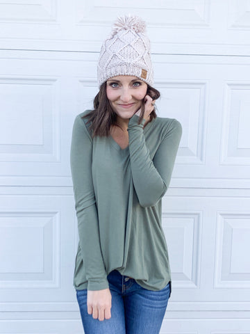 Perfect Long sleeve v-necks- 5 colors