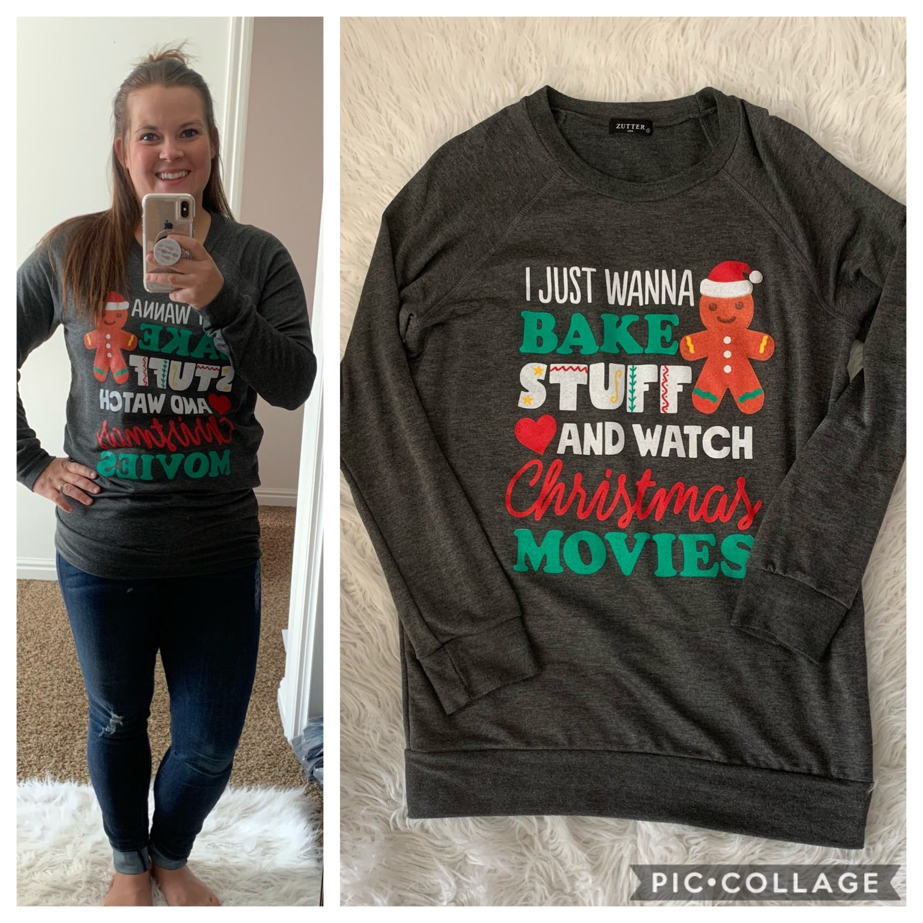 Bake stuff/Christmas movies sweater