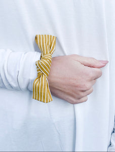 Mustard Stripe Scrunchie