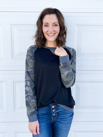 Nedrow Camo Top in Black