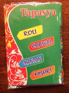 Roli,Chawal,Chandan,Mishri 2 Packs for Rakhi Ceremony USA Seller, Free Shipping