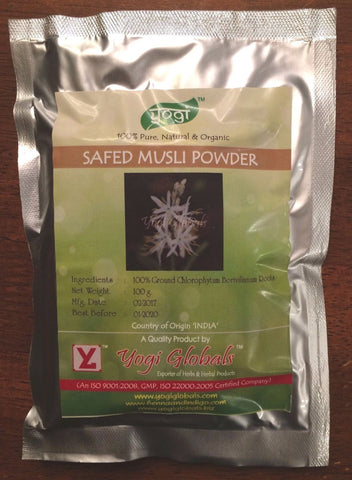 Safed Musli Powder - Supports Sexual Health 100 Gm - Free Shipping, USA Seller!