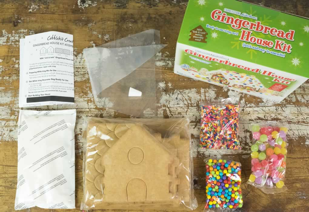 Gingerbread House Kit - Cottage contents