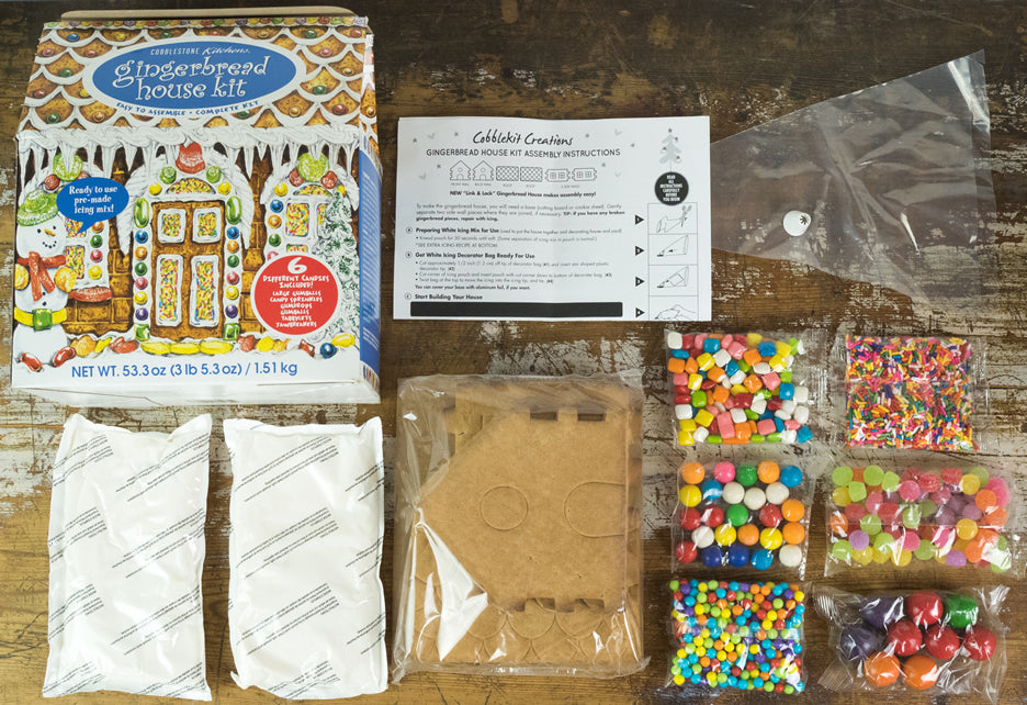 Gingerbread House Kit - Country contents