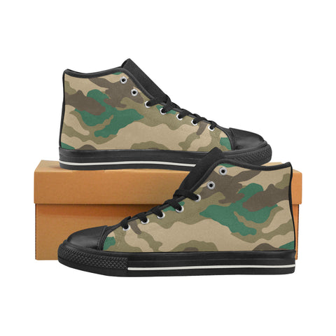 Woodland Camo Mens High Top Casual Shoes