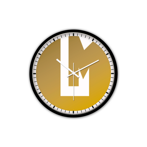 LaMonki Iconic Non-Ticking Silent Wall Clock with Modern and Nice Design for Wall Decoration (Black)