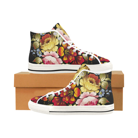 "Flowers ""white"" Vancouver H Women's Canvas Shoes (1013-1)"