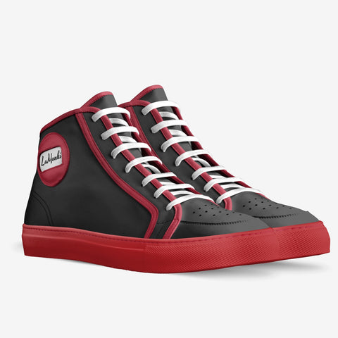 The Villa Unisex sporty high tops (black/ red)