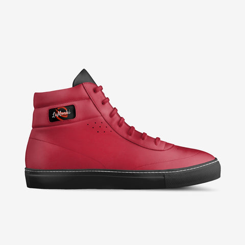 The Vivo unisex vintage high tops (red/ black)