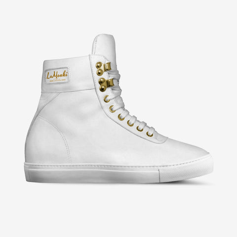 The Alta vintage high tops (all white)