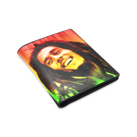 bob marley Men's Leather Wallet (Model 1612)