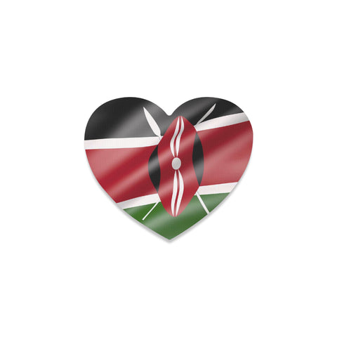 Kenya Flag Heart Coaster