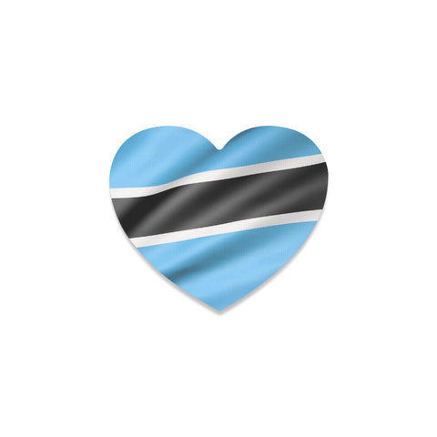 Botswana Flag Heart Coaster