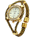 Dandy 221 Ladies Quartz Watch Diamond Case Bracelet with Steel Wire Strap