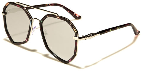 Aviator Flat Lens Women's Sunglasses