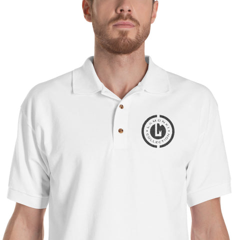 black emblem Embroidered Polo Shirt