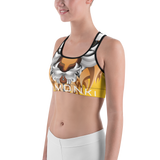 LaMonki Yellow Sports bra