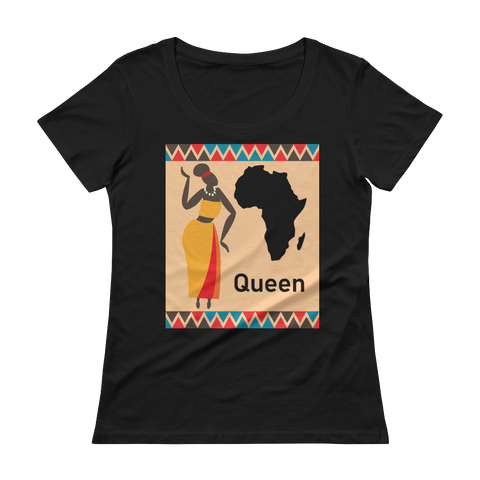 African Queen Ladies' Scoopneck T-Shirt