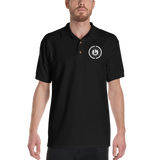 White Emblem Embroidered Polo Shirt