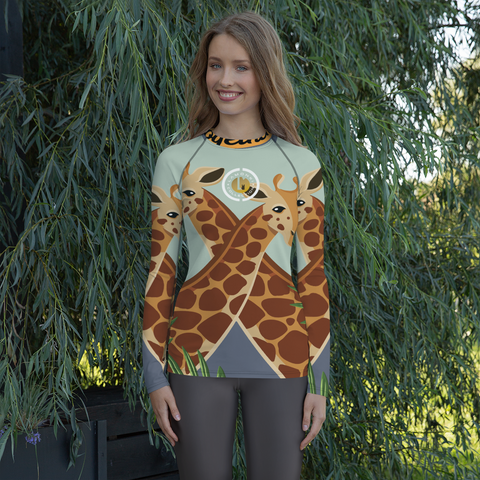 Giraffes Women's Rash Guard